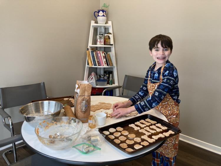 Alex making dog biscuits 2